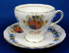 Queen Elizabeth II Coronation Cup And Saucer 1953 English Bone China - Antiques…