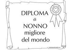 Diploma di Nonno migliore del mondo in festa dei nonni