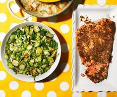 Maple-Mustard Salmon with Brussels Sprout Salad
