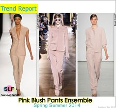 Pink Blush #Pants Ensemble #Fashion Trend for Spring Summer 2014 #spring2014 #pastel #pink #colors #trends