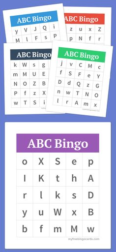7 Best ABC Bingo images Abc bingo, Alphabet bingo, School projects