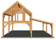 Heavy Timber Cabin with Loft - Timber Frame HQ Cabin Loft, Cabin Plans With Loft, A Frame Cabin Plans, Lofted Barn Cabin, Shed With Loft, Shed Cabin, Timber Frame Cabin, Kabine, Ceiling Height