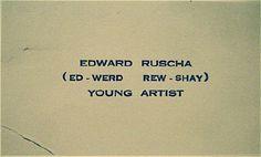 Ed RUSCHA's buisiness card