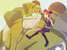 Image detail for -TFP - Bulkhead and Miko by ~ZolataLita on deviantART