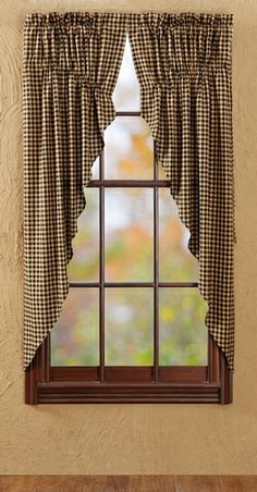 Black Check Lined Prairie Curtains: just ordered these, I'm super excited! Can't wait to see what they will look like