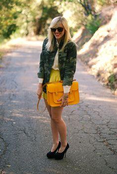 neon cambridge satchel + cammo + color is not always adult but i love.
