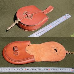 Small Rus-type leather belt pouch by Henord