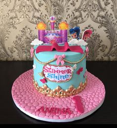 Shimmer & shine cake has come to stay for good. I can do this a 100 times and not get bored. We love making the little ones happy, we are… Baby Girl Birthday Cake, Birthday Stuff, 4th Birthday Parties, Shimmer And Shine Cake, Cake Decorating Techniques, Baby On The Way, Girl Cakes, Cake Tutorial, Cakes And More
