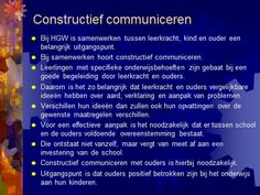 HGW en constructief communiceren