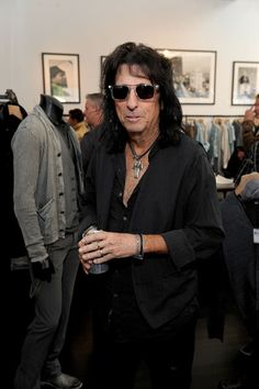 Alice Cooper wearing John Varvatos Sunglasses