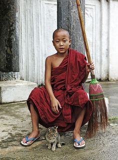 Pose for the camera . Myanmar