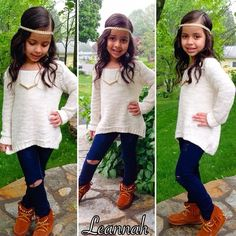 the CoOl Kids - I love it but so itll be she appropriate shell have jeans with out the slits #thatseasier #cool #kids