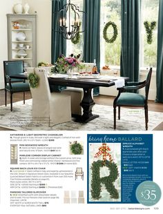 Ballard Designs Online Catalog - hanging curtains across a large amount of windows