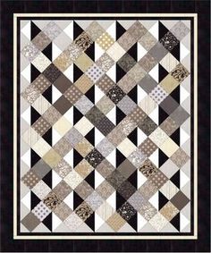 This Easy PDF Quilt Pattern, Simply Serene Pleasant Valley is just one of the custom, handmade pieces you'll find in our quilts shops. New Quilt Patterns - A great scrappy and easy quilt. The only block you have to put together is the half-square-triangle Lap Quilts, Patchwork Quilting, Scrappy Quilts, Mens Quilts, Amish Quilts, Modern Quilting, Quilting Fabric, Charm Pack Quilts, Charm Quilt