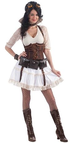 How to Dress Steampunk. Steampunk is a culture and fictional genre based on an alternative Victorian history. Whether it's in a novel or a costume, steampunk aims to capture a Victorian vibe alongside modern or futuristic ideas. Steampunk Cosplay, Viktorianischer Steampunk, Steampunk Halloween, Steampunk Dress, Steampunk Clothing, Steampunk Fashion, Steampunk Female, Victorian Halloween, Costume Sally