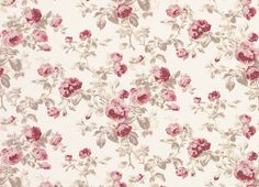 Cassis Floral Linen Cotton Fabric More Linen Cotton Fabric Fabric