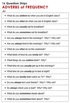 Adverbs of Frequency - All Things Grammar