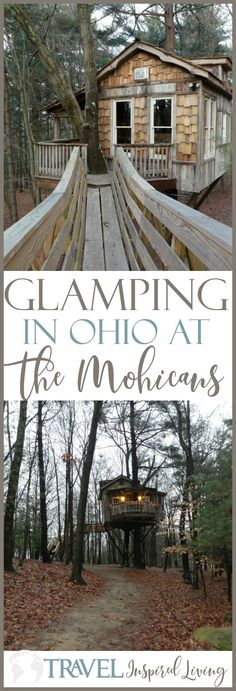 Glamping in Ohio? You bet! Spend the night in one of these Treehouses and go glamping at The Mohicans.This is one destination in the U.S. that you won't want to miss!