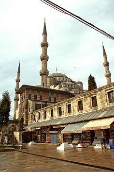 The Blue Mosque from Arasta Bazaar