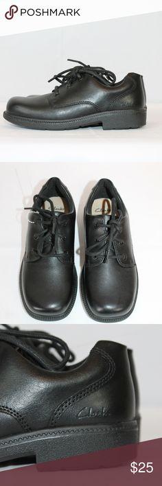 6478c08efca3 Clarks Dress School Shoes Boys Black Leather NEW Clarks Boys School Dress  Shoes Style name is