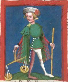 Jacobus : Das Schachzabelspiel, in deutsche Prosa übertragen 1407  Cgm 49  Folio 35r