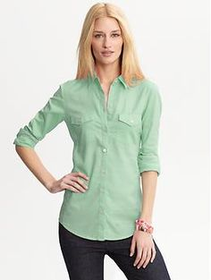 Soft-wash oxford shirt   pretty pastel green :)