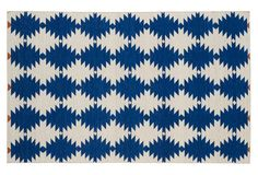 Deciding between these two rugs. Elsa Flat-Weave Rug, Navy