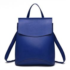 c1878b1d049d Fashion Black Leather Backpack Women Brand Quality Backpacks Teenage Girls  Casual School Bag Rucksack mochila Silver XA216H