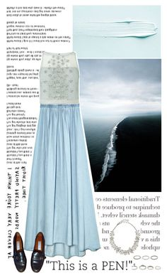 """""""Angel Blue"""" by heartsmarts ❤ liked on Polyvore featuring Josa Tulum, Coast, Etienne Aigner, Oscar de la Renta and Forever 21"""