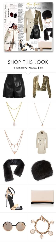 """Fall Jewelry Trend: Rose Gold"" by anitadz ❤ liked on Polyvore featuring Balenciaga, Links of London, Edge of Ember, Surell, Fendi, Lipsy, Marc by Marc Jacobs, Michael Kors and rosegold"