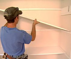 Install Simple Closet Shelves