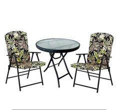 Outdoor Furniture Bistro Set 3 Pc Table Chair Patio Porch Deck Cafe Garden # Mainstays