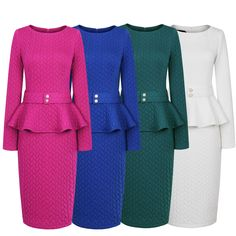 Buy directly from the world's most awesome indie brands. Or open a free online store. Peplum Midi Dress, Plus Size Peplum, Slim Hips, Office Ladies, Indie Brands, Retro Outfits, Retro Dress, Winter Dresses, Simple Dresses