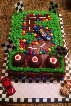 Birthday cake for a little boys birthday.