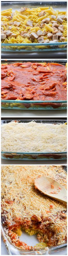 Chicken Parmesan Casserole Recipe...could add some spinach or something too