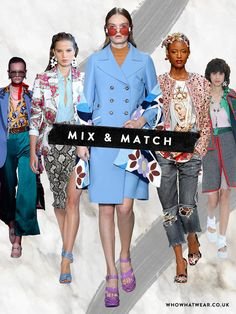 spring summer 2017 fashion trends: mix and match