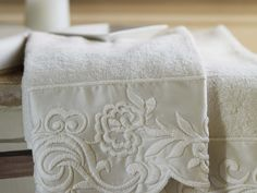 Mastro Raphaël :Coppia asciugamani spugna di cotone Dune Merveille