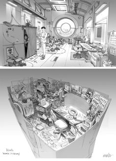 Artes e Design de Jim Martin para Big Hero 6! | THECAB - The Concept Art Blog