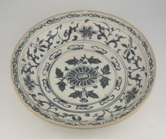 Dish, Vietnam, 15th – 16th century. Glazed stoneware with underglaze blue decoration, 3 3/8 x 14 7/8 inches (8.6 x 37.8 cm). Gift of Clayton B. Wentworth, 1966. 1966-218-1 © 2016 Philadelphia Museum of Art
