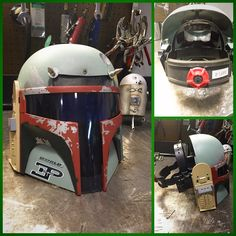 Funny pictures about Boba Fett's Welding Mask. Oh, and cool pics about Boba Fett's Welding Mask. Also, Boba Fett's Welding Mask photos. Welding Memes, Welding Gear, Welding Training, Welding Tips, Metal Welding, Welding Funny, Custom Welding Hoods, Welding Table, Boba Fett Mask