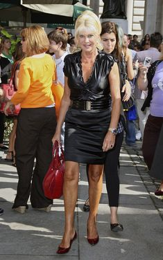 Ivana Trump:  The streets of Manhattan filled with celebrities attending events during Mercedes-Benz Fashion Week.