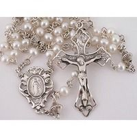 5MM Freshwater Pearl Rosary - SS
