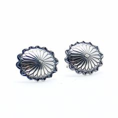 Silver Concho Navajo Earrings - Child of Wild
