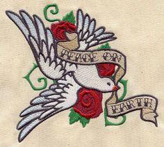 Peace Dove Tattoo design (UT2853) from UrbanThreads.com