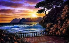 tropical beach sunset images - Google Search