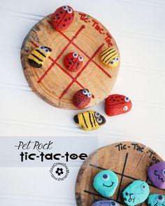 Pet Rock Tic-Tac-Toe - onecreativemommy.com