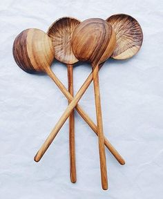 American Made Sculpted Cherry Wood Utensil Holder Crock