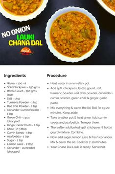 Chana Dal Lauki Without Onion | Tasted Recipes Snacks Recipes, Cooking Recipes, Gourd Vegetable, Indian Food Recipes, Ethnic Recipes, Vegetarian Snacks, Mouth Watering Food, Red Chili Powder