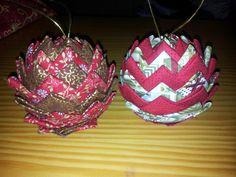 Mis primeras bolas de navidad!
