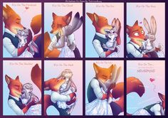 Kiss These tableaus are so unbelievably romantic!  I hope these are scenes in Zootopia 2...